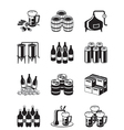 Beer and brewery icon set vector image