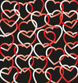 hearts connected background vector image vector image