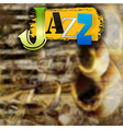 Abstract grunge background with the word jazz and vector image