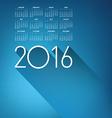An Elegant 2016 Cloud Calendar vector image