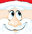 Christmas of Santa Claus in square - vector image