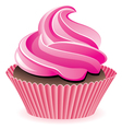 pink cupcake vector image vector image