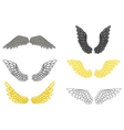 angel wing set for your design vector image vector image