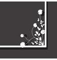 black floral box vector image