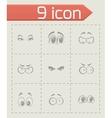 cartoon eyes icons set vector image