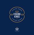 fishing kings logo hooks like a crown vector image
