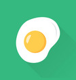 fried eggs flat style with long shadow vector image