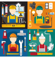 home repair banners flat design vector image
