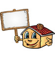 house cartoon with signboard vector image