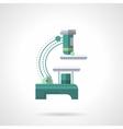 Light microscope flat color design icon vector image