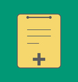 Medical Notebook Icon vector image