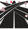 Much roads vector image