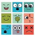set emoticons faces vector image