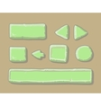 Set of cartoon green buttons for web or game vector image
