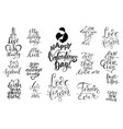 set of letterings valentines theme vector image