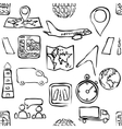 sketch logistic seamless pattern vector image