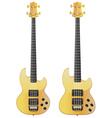Yellow Electric Guitar vector image