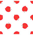 seamless pattern with hand drawn red autumn leaf vector image