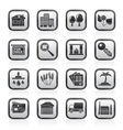 Real Estate and building icons vector image
