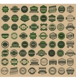 Racing badges - vintage style big green set vector image vector image