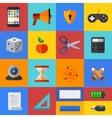 flat modern icons set Eps 10 vector image vector image