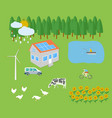Farm vellage landscape vector image
