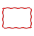 Candy Cane Frame vector image vector image