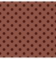 Seamless dark brown pattern with polka dots vector image vector image