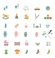 Babies toys icons vector image