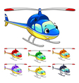 Funny helicopter vector image