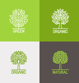 set of linear icons and logo design elements vector image vector image