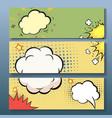 Set of comics boom backgrounds vector image vector image