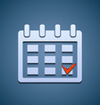 Calendar icon with the mark vector image