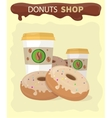 Sweet Donuts Set Design Flat Food vector image