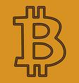 bitcoin bitkoins icon symbol on a yellow vector image