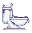 ceramic toilet hygiene domestic vector image