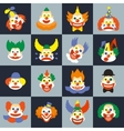 Clown face set vector image