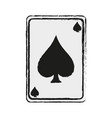 game card spades icon image vector image