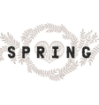 lettering Spring with decorative flower vector image