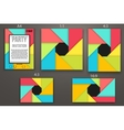 Material Design of templates vector image