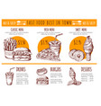 pictures of bistro menu restaurant fast vector image