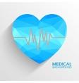 Polygonal medical heart background concept vector image