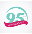 Template Logo 95 Anniversary vector image