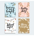 Set of cute Christmas invitations Collection of vector image