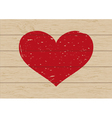 heart on wood vector image vector image