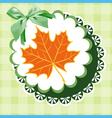 doily autumn vector image vector image