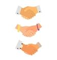Business handshake iconset vector image
