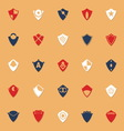 Design shield classic color icons with shadow vector image