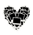 photos heart shape vector image vector image