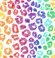 Rainbow Seamless Pattern Of Leopard Skin vector image